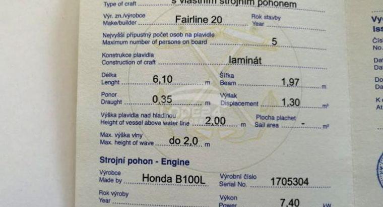Motorová lod Fairline 20